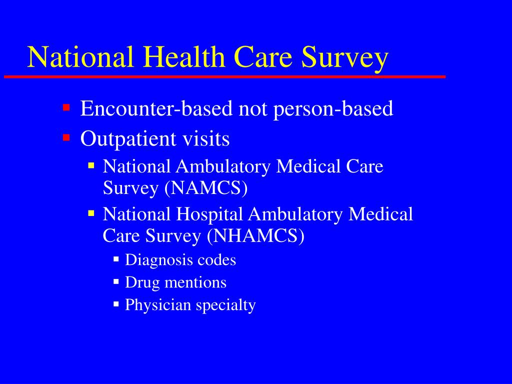 National Health Care Survey