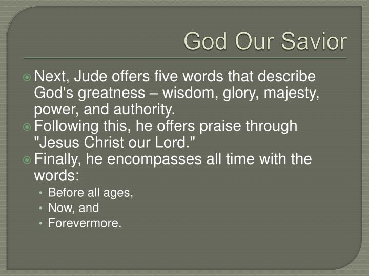 God Our Savior