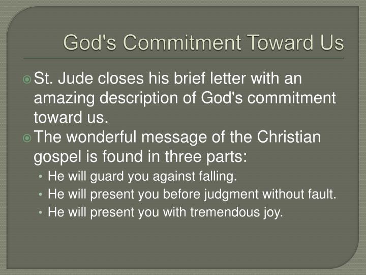 God's Commitment Toward Us