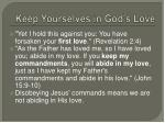 keep yourselves in god s love1