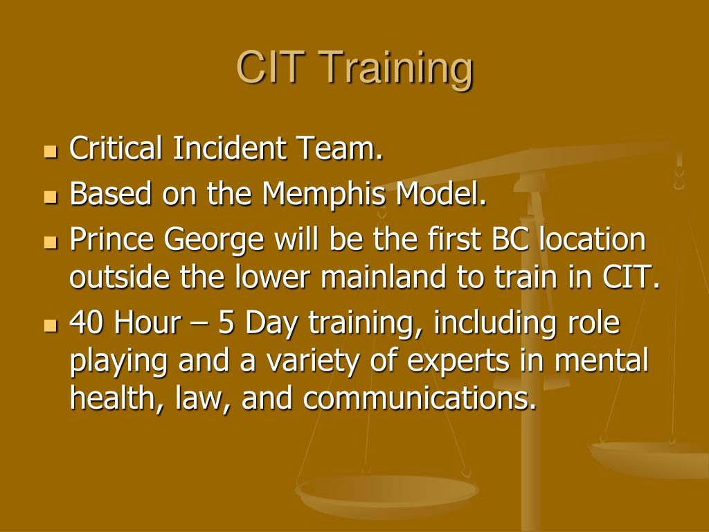 CIT Training