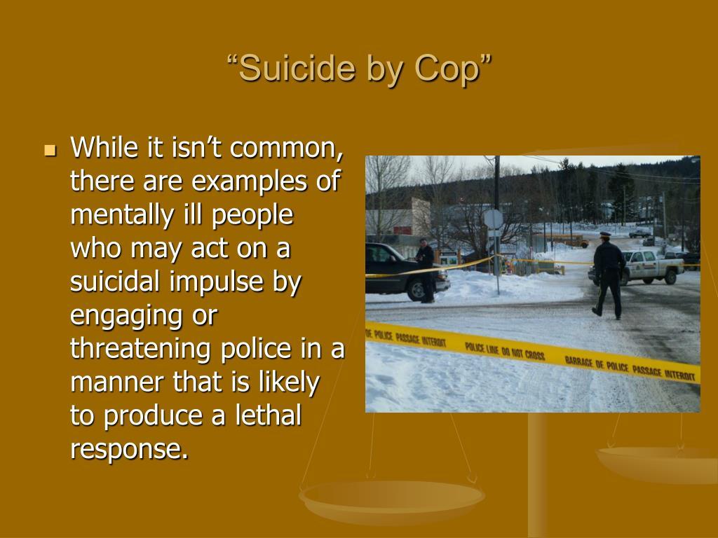 """Suicide by Cop"""