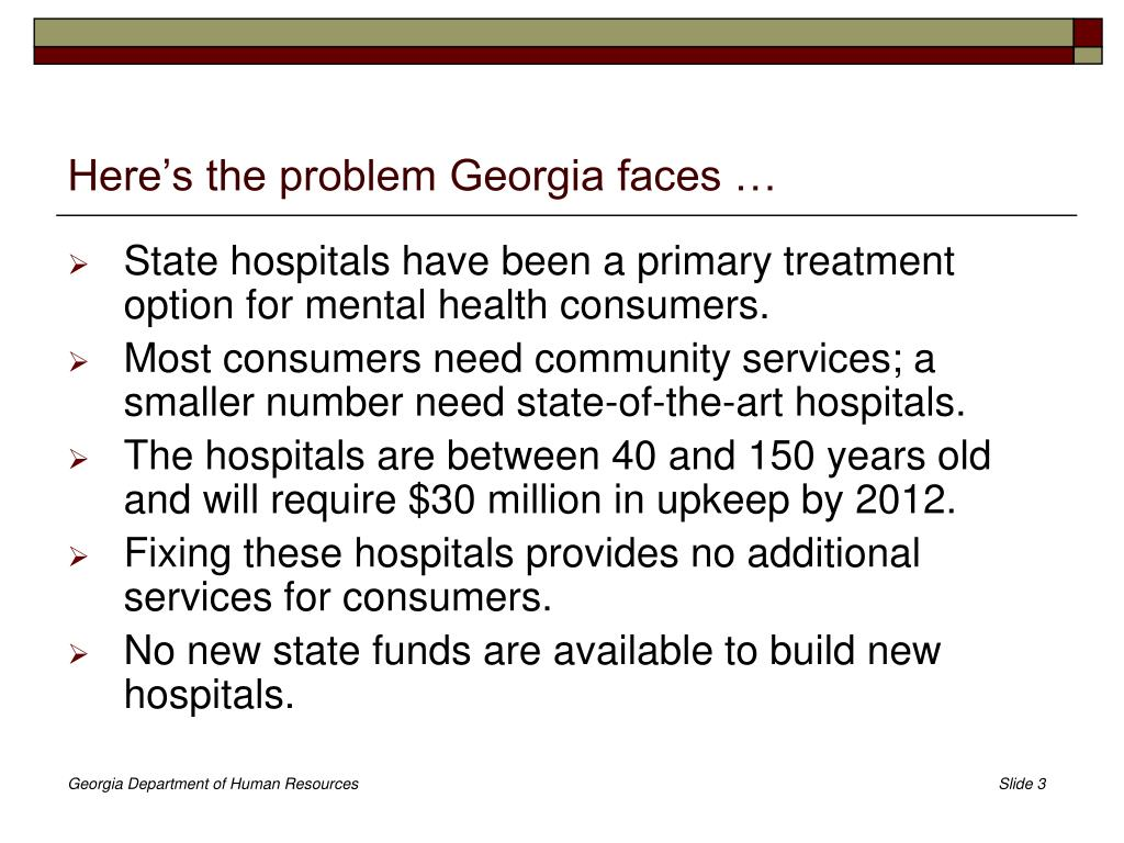 Here's the problem Georgia faces …