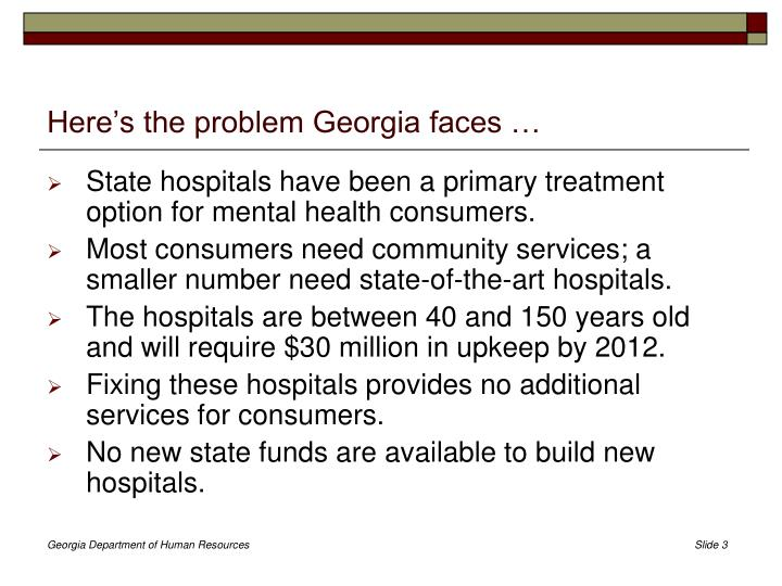 Here s the problem georgia faces
