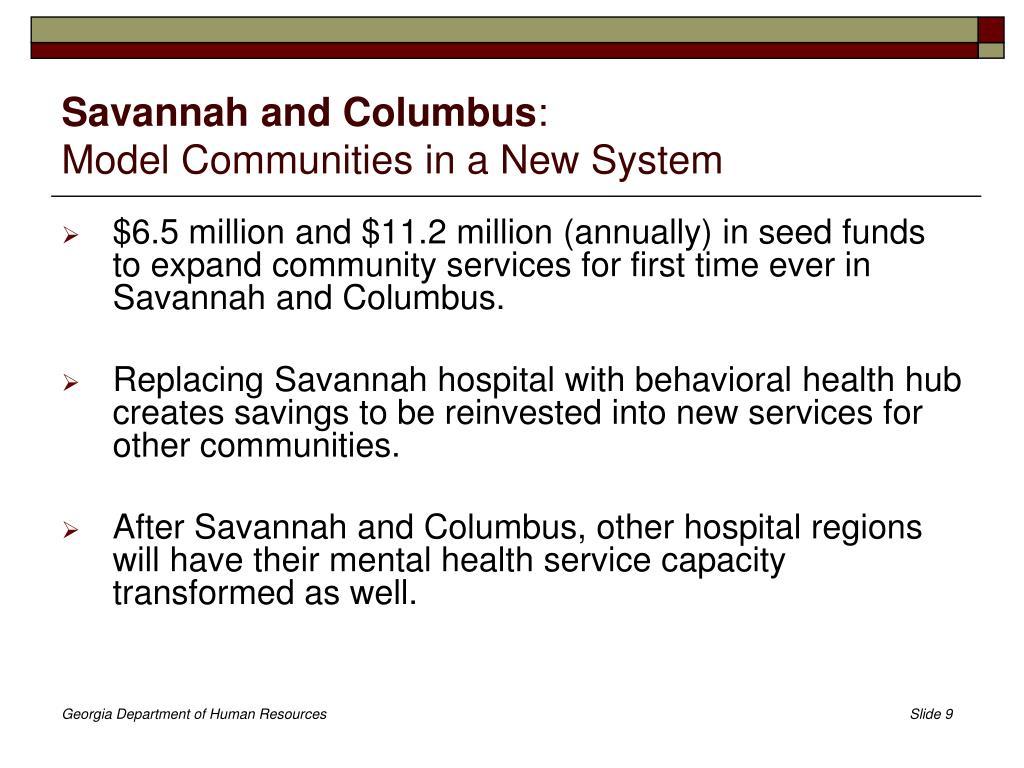 Savannah and Columbus