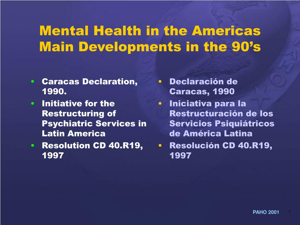 Caracas Declaration, 1990.