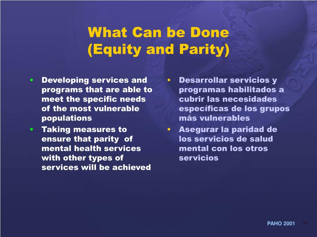 Developing services and programs that are able to meet the specific needs of the most vulnerable populations
