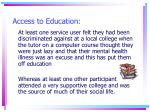 access to education