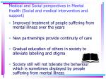 medical and social perspectives in mental health social and medical intervention and support22