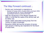 the way forward continued