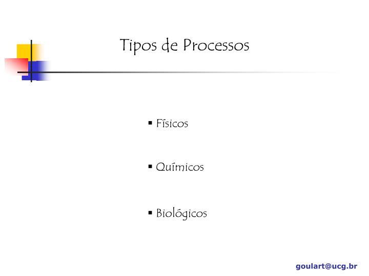 Tipos de Processos