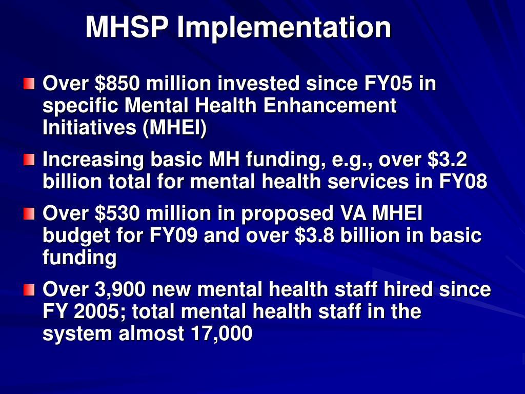 MHSP Implementation