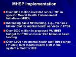 mhsp implementation