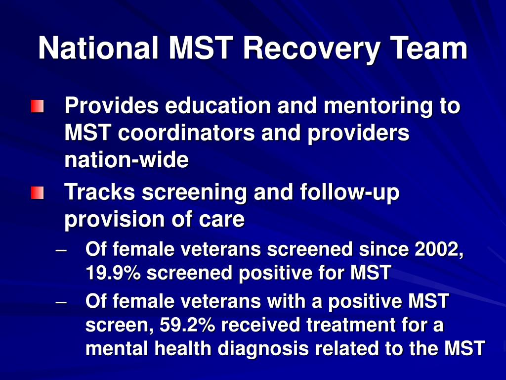 National MST Recovery Team