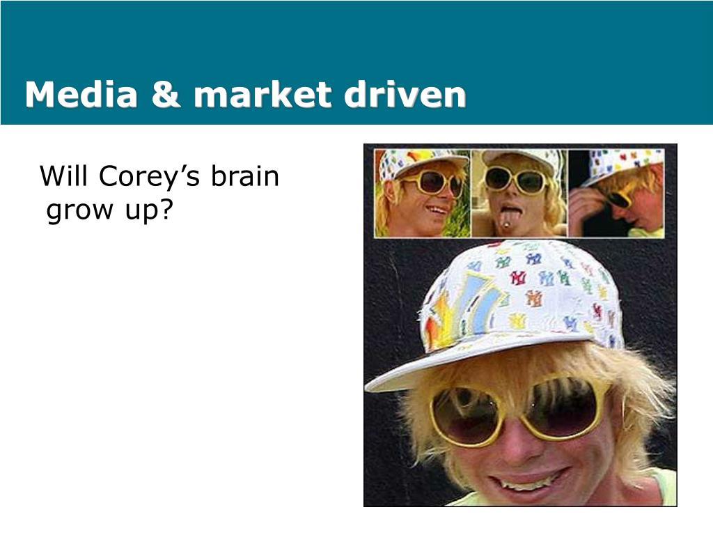 Media & market driven