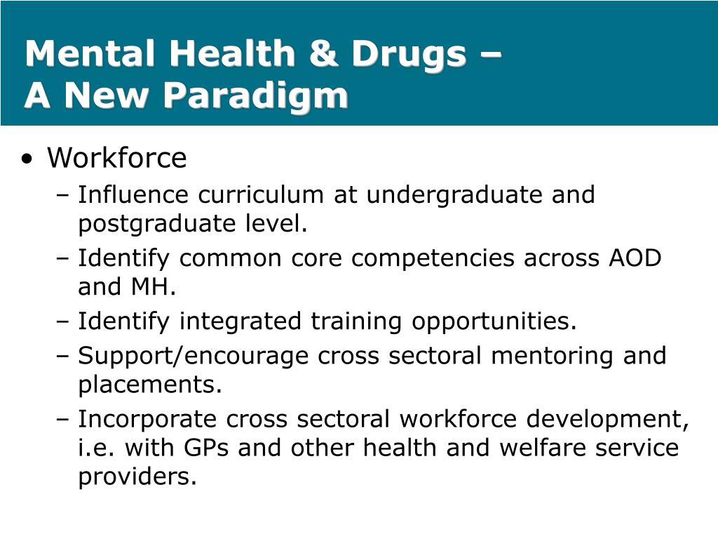 Mental Health & Drugs –