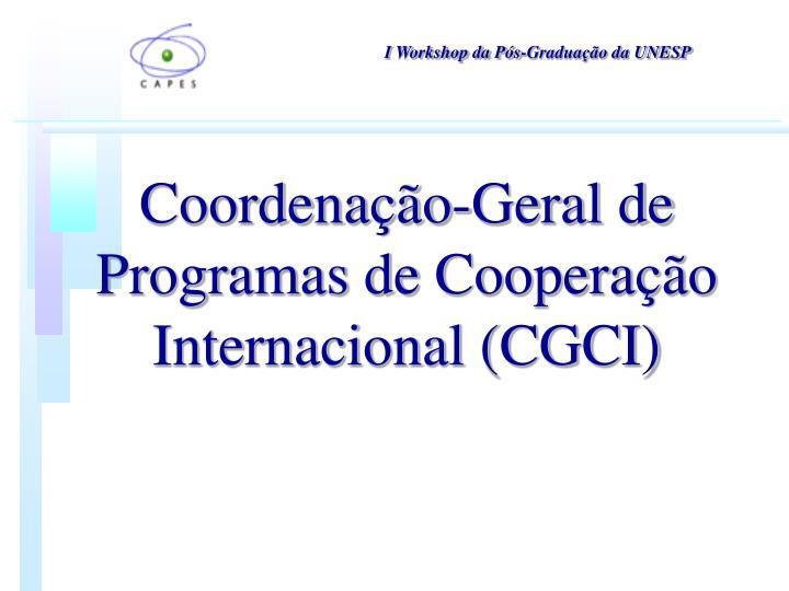 Coordenação-Geral de Programas de Cooperação Internacional (CGCI)