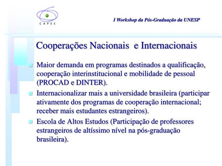 I Workshop da Pós-Graduação da UNESP