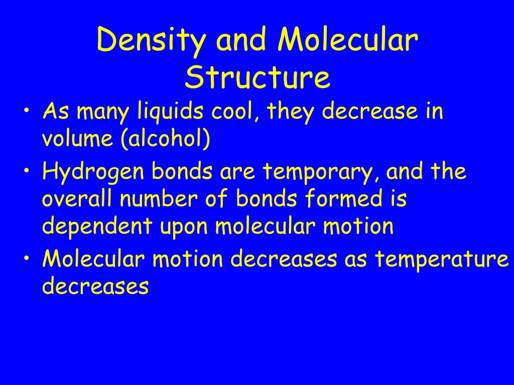 Density and Molecular Structure