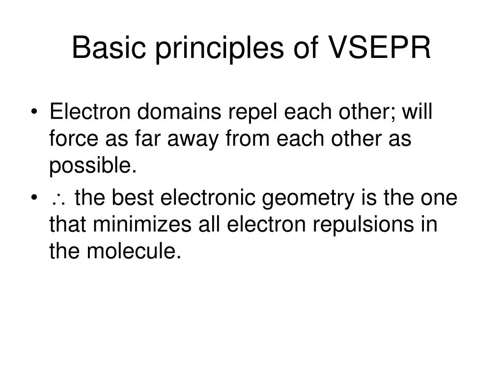 Basic principles of VSEPR