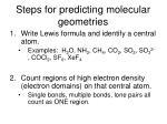 steps for predicting molecular geometries10