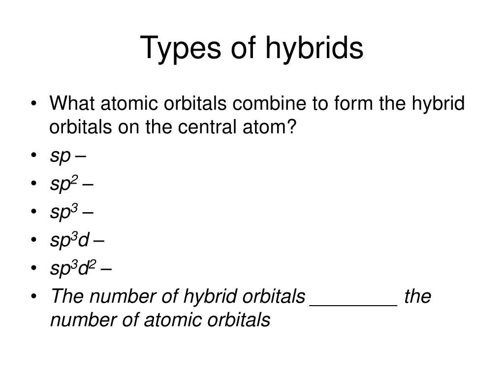 Types of hybrids
