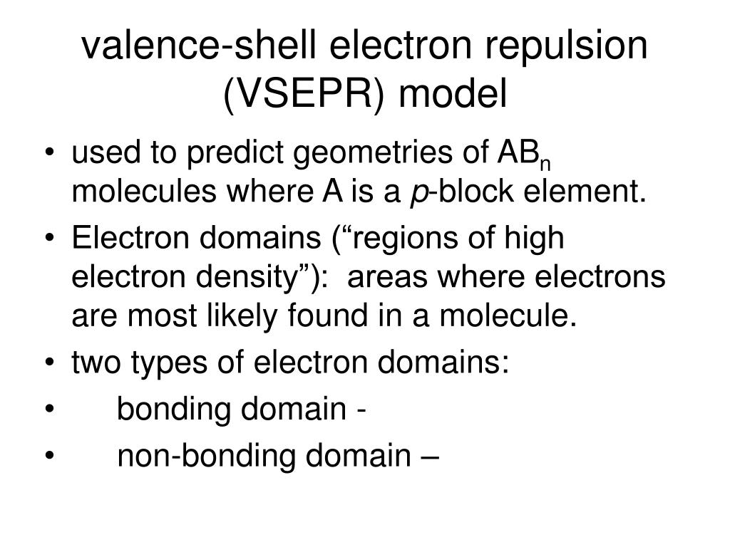 valence-shell electron repulsion (VSEPR) model