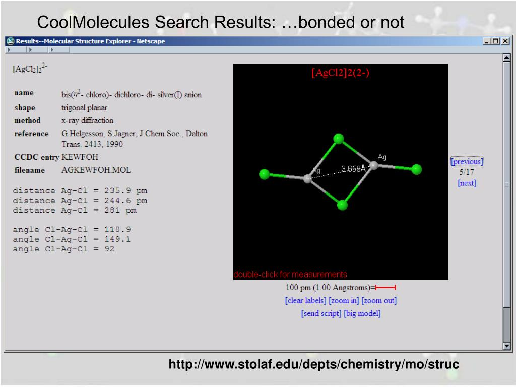 CoolMolecules Search Results: …bonded or not