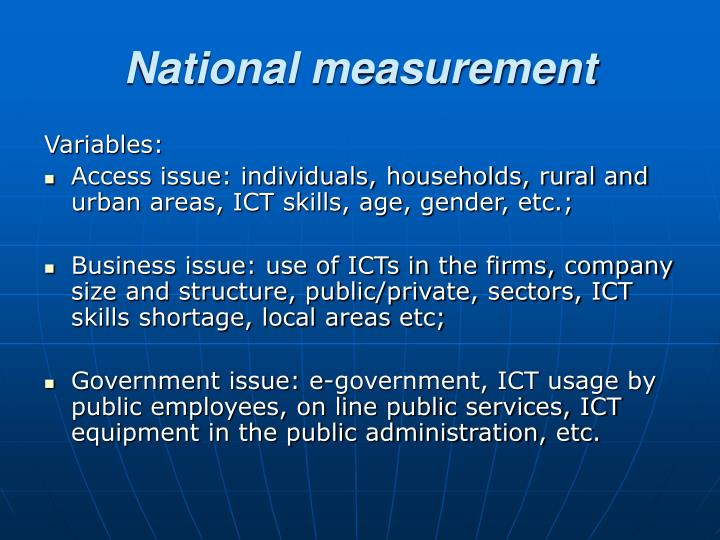 National measurement