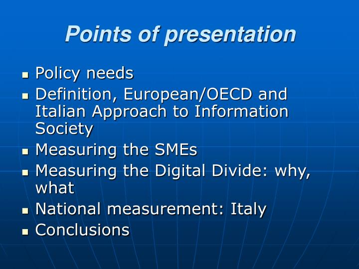 Points of presentation