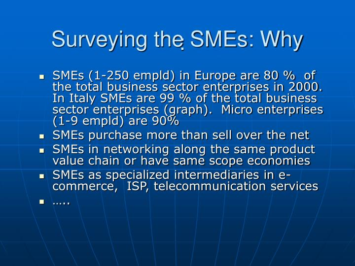 Surveying the SMEs: Why