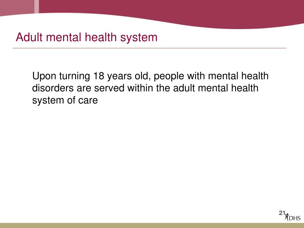 Adult mental health system