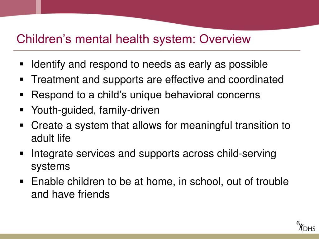 Children's mental health system: Overview