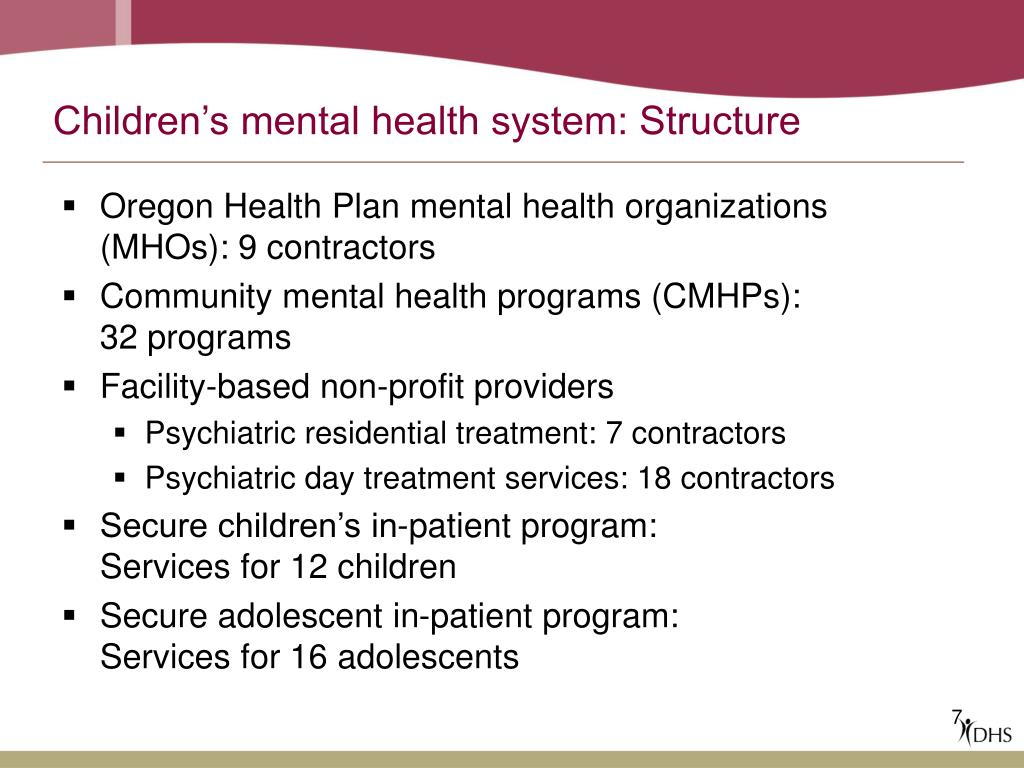 Children's mental health system: Structure
