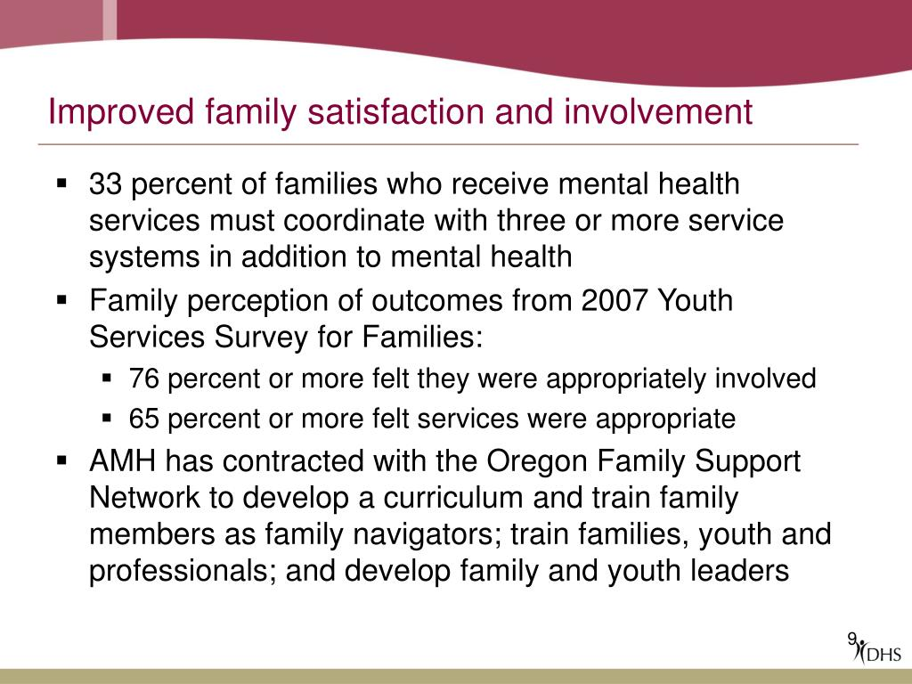 Improved family satisfaction and involvement