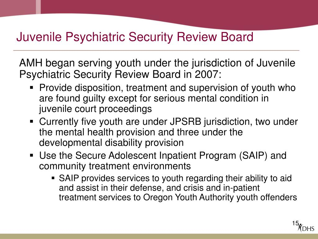 Juvenile Psychiatric Security Review Board