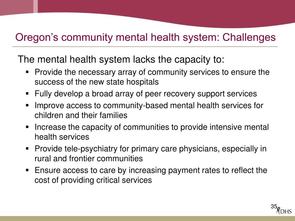 Oregon's community mental health system: Challenges