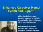 enhanced caregiver mental health and support