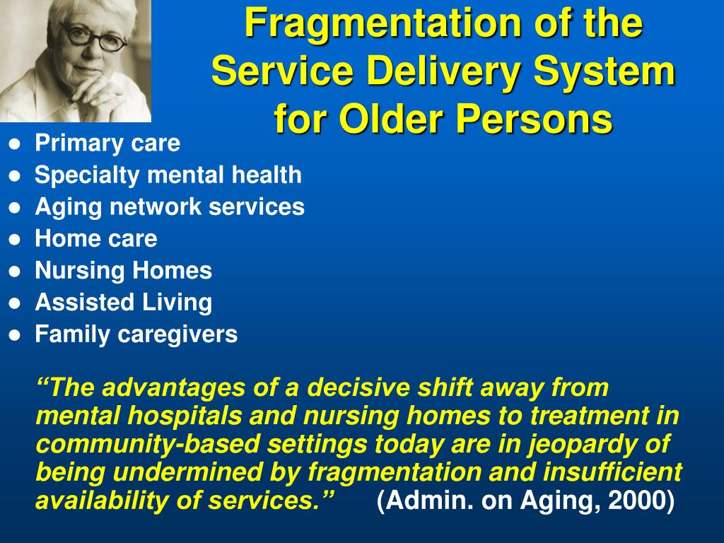 Fragmentation of the