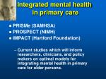 integrated mental health in primary care
