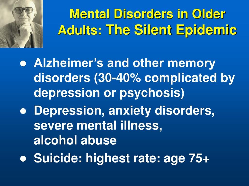 Mental Disorders in Older Adults: