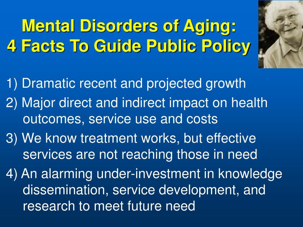 Mental Disorders of Aging:
