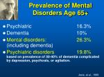 prevalence of mental disorders age 65