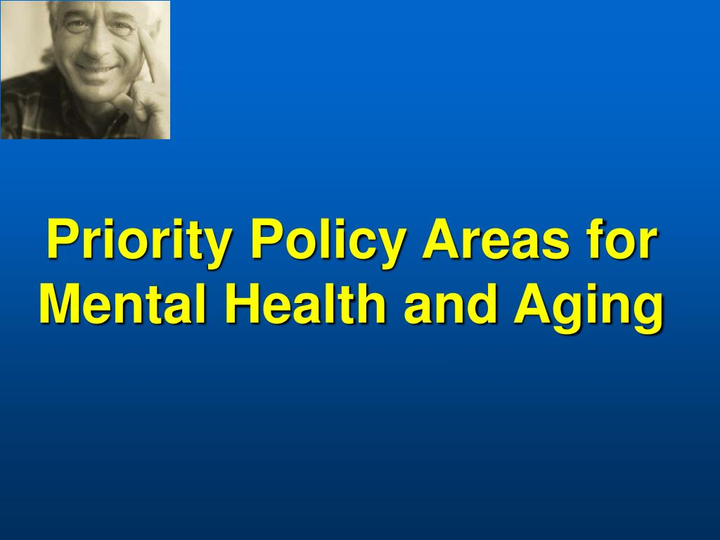 Priority Policy Areas for