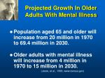 projected growth in older adults with mental illness