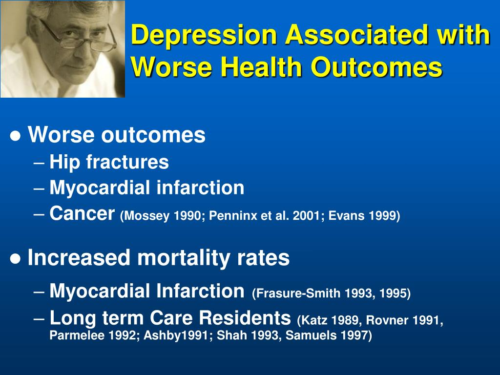 Depression Associated with Worse Health Outcomes