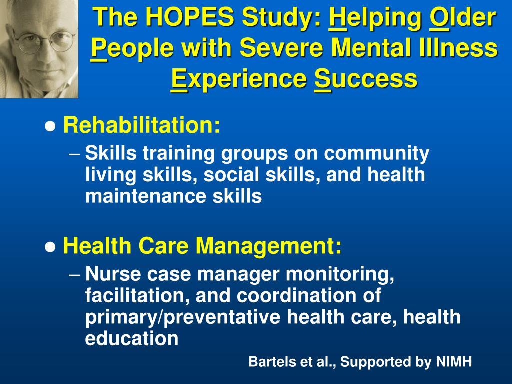 The HOPES Study: