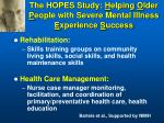 the hopes study h elping o lder p eople with severe mental illness e xperience s uccess