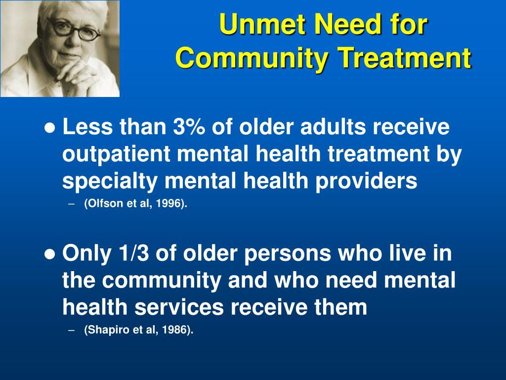 Unmet Need for Community Treatment