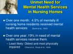 unmet need for mental health services in nursing homes